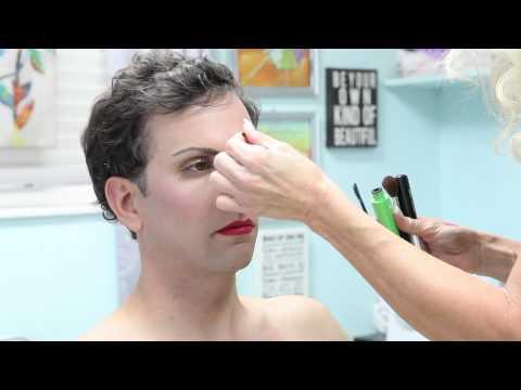 Make up artist turns a man into a woman