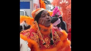New Orleans Mardi Gras Indian ~ Singing & Chanting ~ 2015