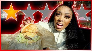 Eating At The Worst Reviewed Burger Restaurant In Orlando | Ashley Deshaun