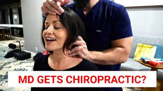 Download Medical Doctor gets INTENSE Chiropractic Adjustments to ERASE HEADACHE Mp3 and Videos