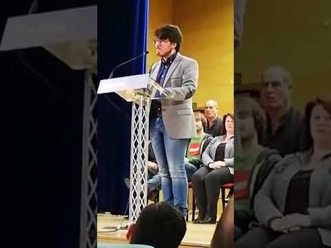 Iván Olmos intervén na convención ás Xerais de En Marea, en Santiago