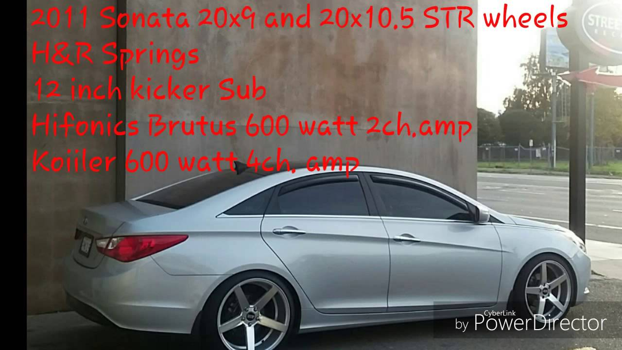 2011 Sonata 20inch Str Wheels Lowered Youtube