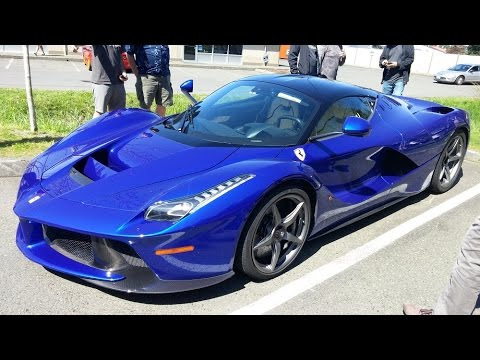 Ferrari LaFerrari in Blue   Start up and Drive   YouTube