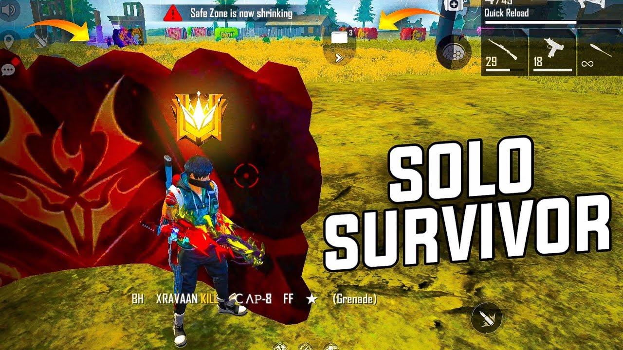 Solo Survivor In Top 19 Grandmaster - Garena Free Fire