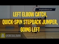 Left Elbow Catch, Quick-Spin Stepback Jumper, Going Left | Dre Baldwin