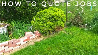 How to Quote Landscaping Jobs - Property Walk