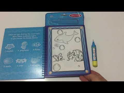 Magic Water Book Sihirli Boyama Kitabı Boyama Yapıyoruz Youtube