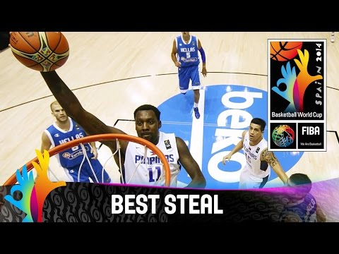 Andray Blatche steals it and finishes with a dunk at the other end - 2014 FIBA Basketball World Cup