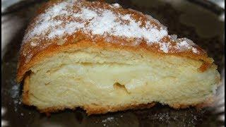 Вкусный пирог с заварным кремом