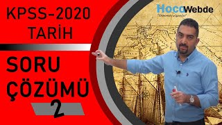 2) KPSS 2020 Tarih Soru Çözümü Aydın YÜCE