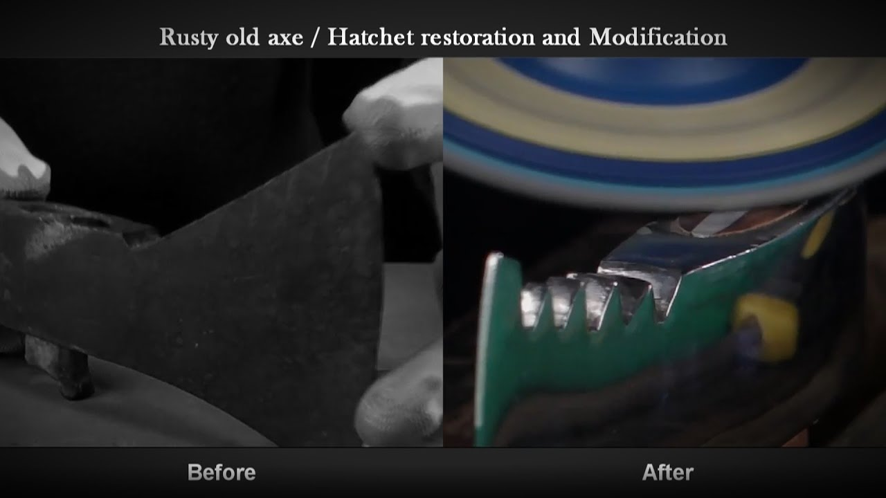 Rusty old axe / hatchet restoration and modification