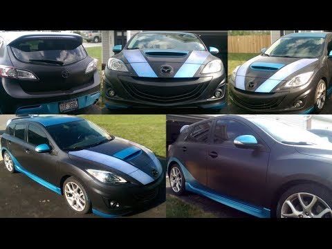 2012 Mazdaspeed 3 Custom Plasti Dip Youtube