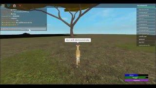 Come scalare un albero in roblox Wild Africa!