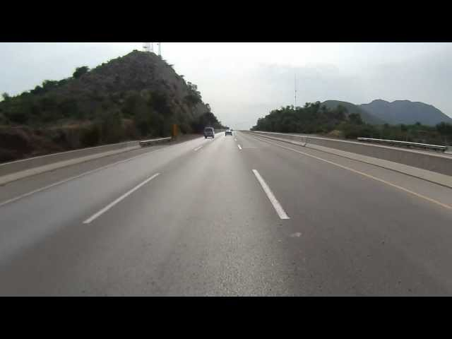 Islamabad to Lahore on Motorcycle via Motorway in HD - Part 1 of 7 Travel Video