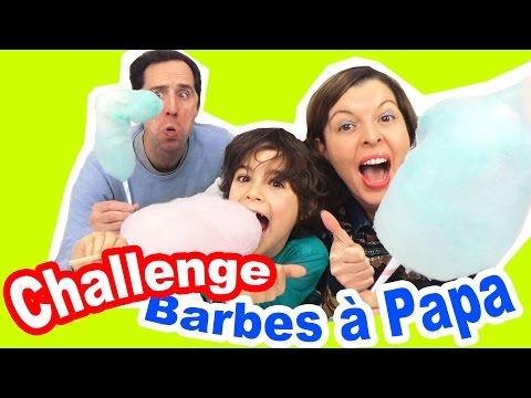 CHALLENGE BARBES à PAPA - Qui fera la plus grosse barbe à papa ?