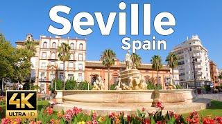 Seville, Spain Walking Tour (4k Ultra HD 60fps)