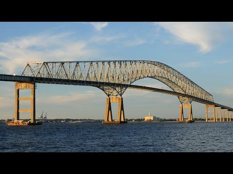 Francis Scott Key Bridge Drive Over - Baltimore MD