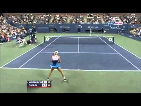 Caroline Wozniacki vs Camila Giorgi ~ Highlights ~ US Open 2013 R3)