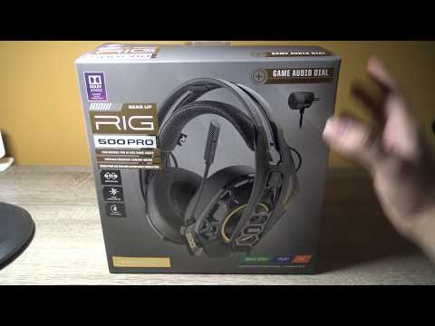 Plantronics RIG 500 Pro HC Casque Gaming Headset PC/PS4/One: Unboxing & Test Video Review FR HD
