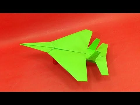 Best Paper Airplane - How To Make An Origami Fighter Plane That Fly Far - Paper Crafts Cool Plane