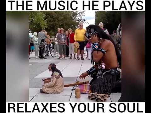 THE MUSIC HE PLAYS RELAXES YOUR SOUL