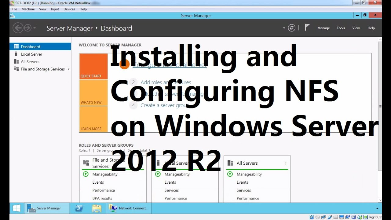 25  Installing and Configuring NFS on Windows Server 2012 R2