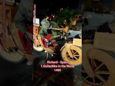 1465. (WR485) Richard - Spain    1.GuitarBike Guitar Bicycle Puerto de la Cruz Tenerife thumbnail