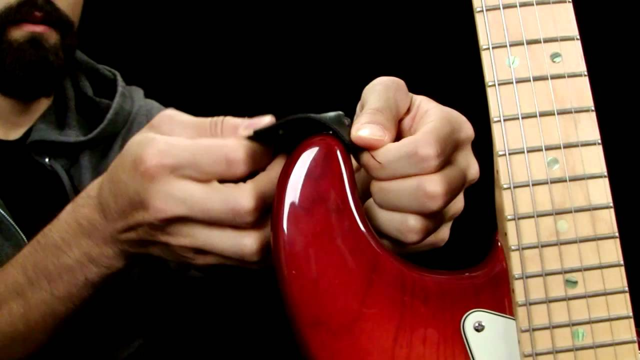 how to make your own guitar strap locks youtube. Black Bedroom Furniture Sets. Home Design Ideas