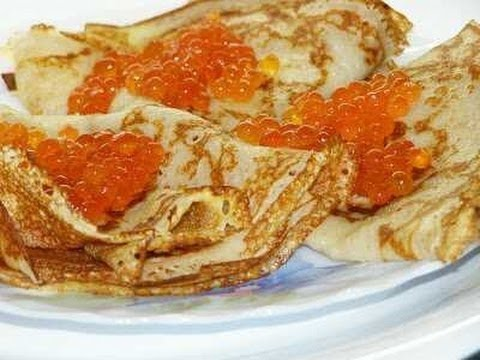 Блины с икрой./Pancakes with caviar