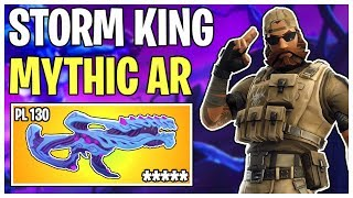 The Mythic King of All Assault Rifles! Storm King's Scourge Weapon Review | Fortnite Save The World