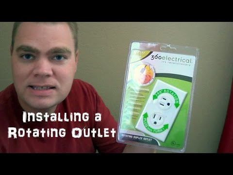 Installing a 360 Degree Rotating Electrical Outlet