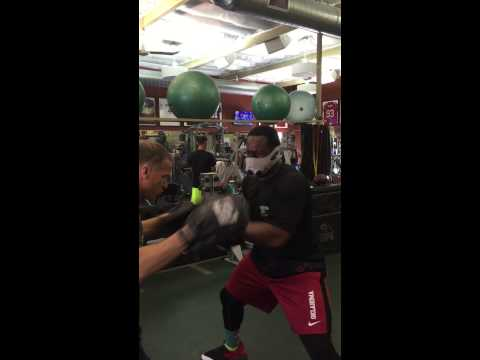 Gerald McCoy Boxing with Todd Durkin at Fitness Quest 10