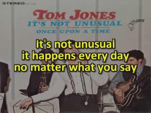 Tom Jones Karaoke - It's not unsual