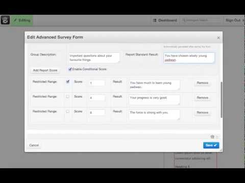 Advanced Survey demonstration video