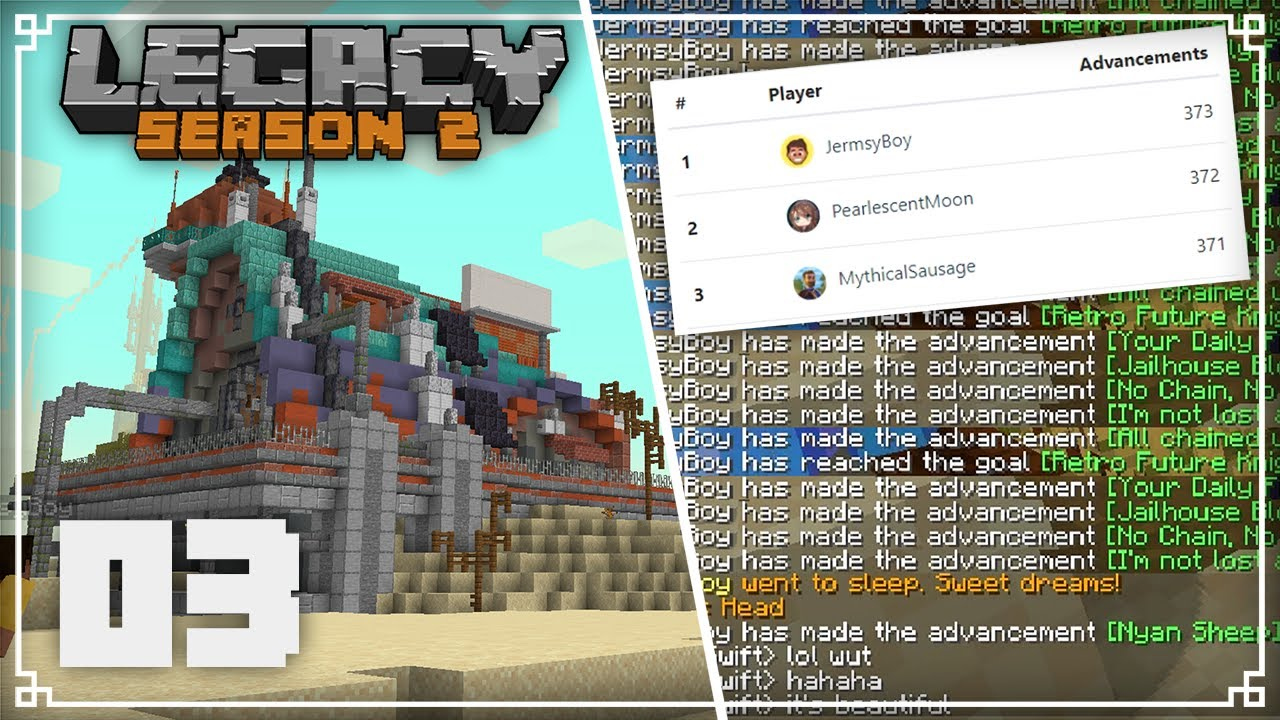 Legacy SMP 2   Finishing my New House & Taking back the Lead!    Minecraft 1.16 Survival Multiplayer