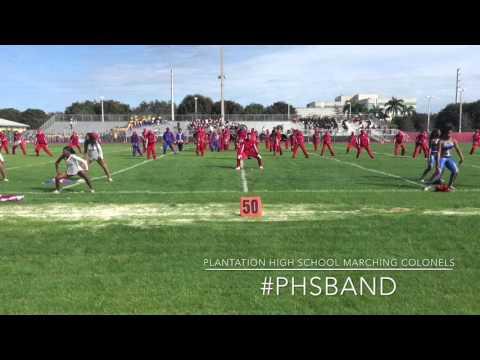 Plantation High School Marching Band @ Miami MLK Botb 1/16/2016