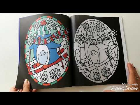 christmas stained glass colouring usborne
