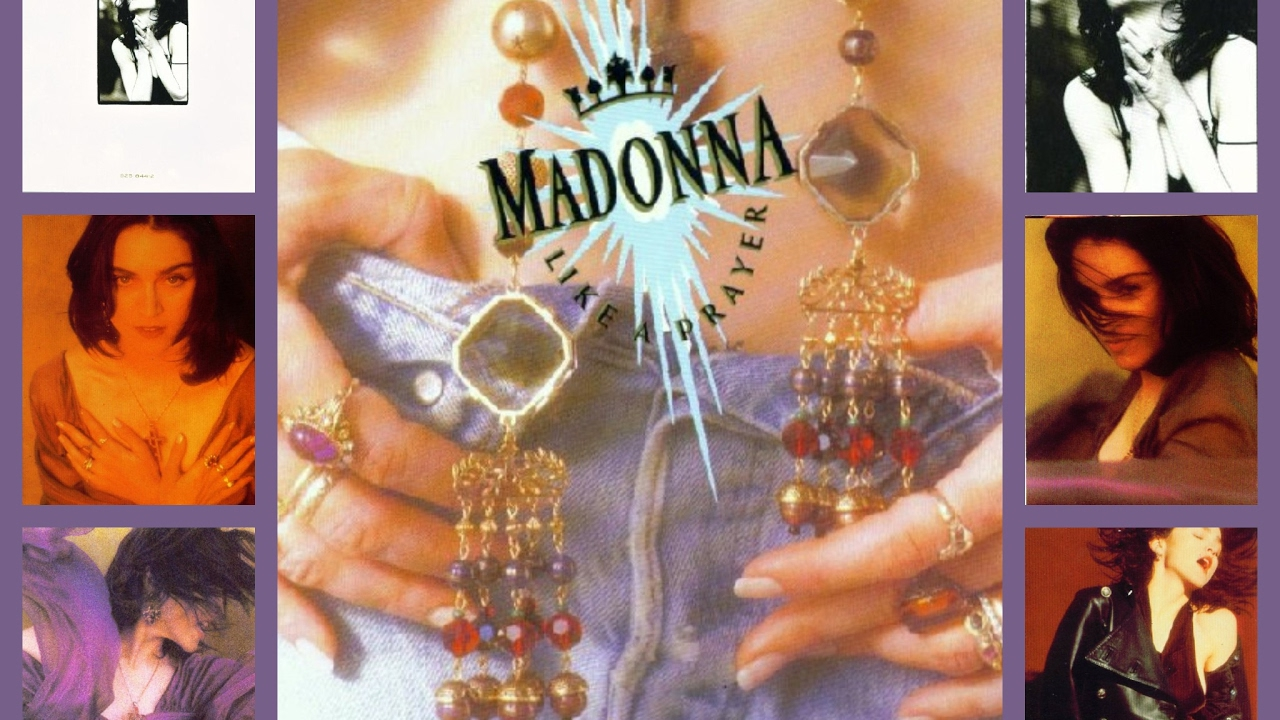 an analysis of madonnas video like a prayer Within madonna's music video of 'like a prayer' we are immediately presented with various information concerning mise-en-scene, sound, lighting and editing.