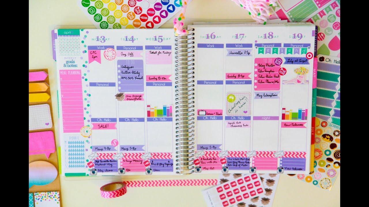 Plan with me purple pink doughnut theme youtube for Plan me