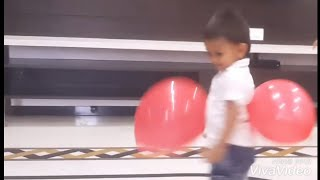 Aarsh   Funny Baby Playing With Balloon Video   Kids Video