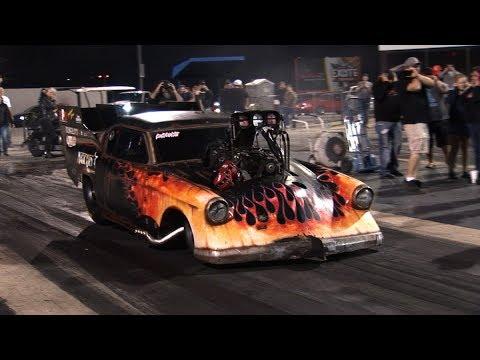 NHRA TOP FUEL MOTOR In A PRO MOD !!! - Scott Palmer Racing