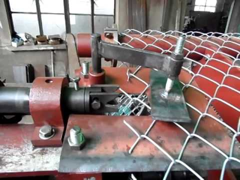 Fully Automatic Chain Link Fence Making Machine Red