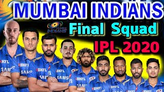 IPL 2020 Mumbai Indians Full Squad | Mumbai Indian Final Players List IPL 2020 | Mumbai Team 2020