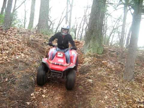 hill climb with my kawasaki 185 bayou - YouTube