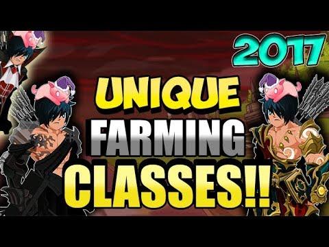 =AQW= TOP 3 UNIQUE FARMING CLASSES IN AQW!! AdventureQuest Worlds 2017
