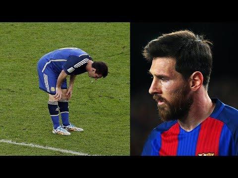Warum muss Messi sich so oft übergeben auf dem Feld ?
