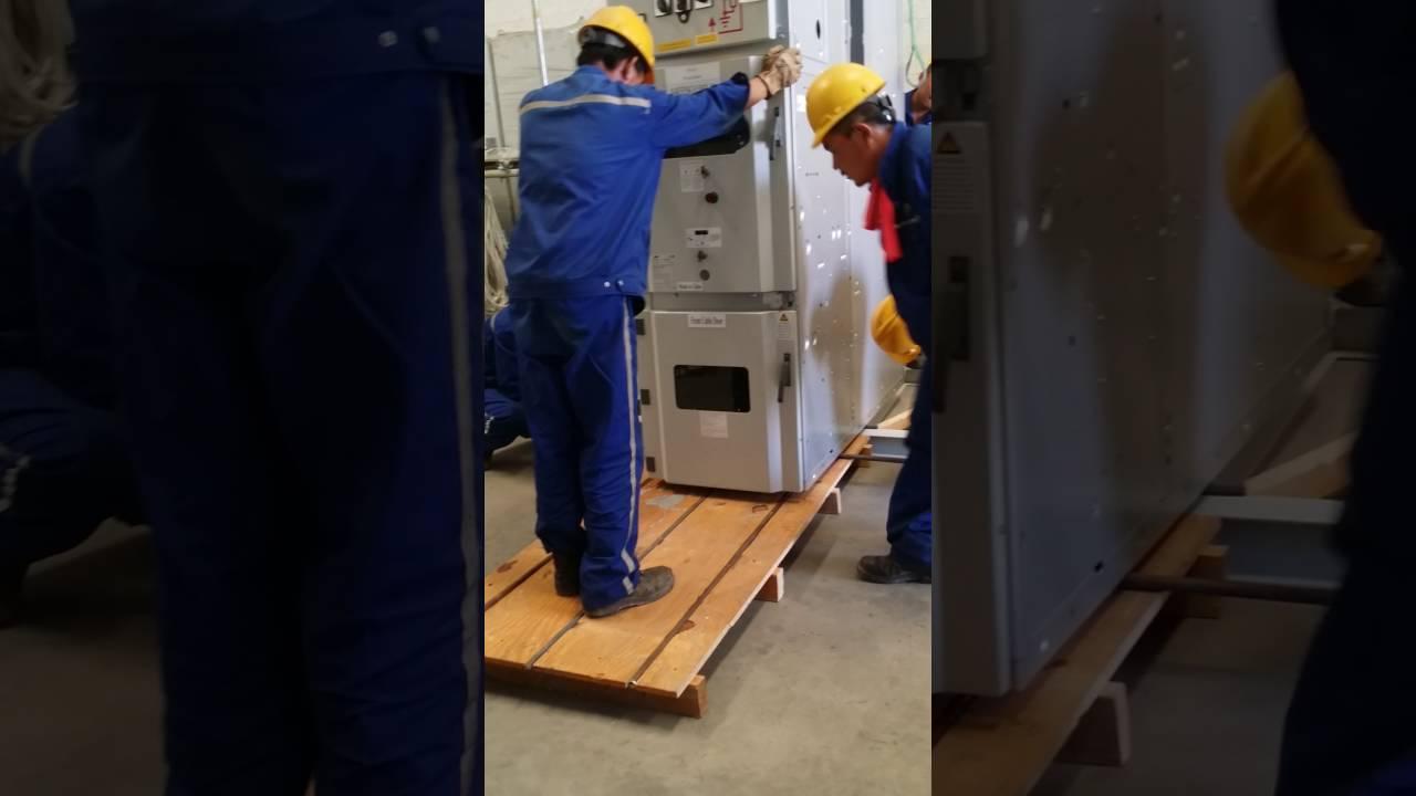 Shifting of ABB MV switchgear panel