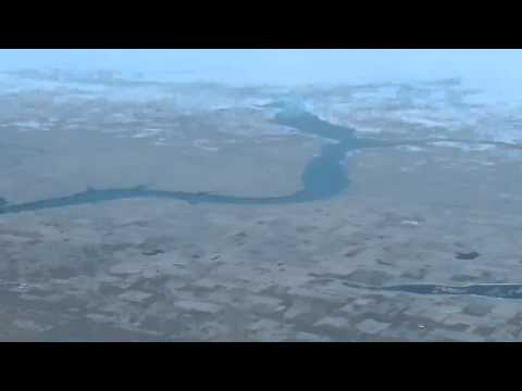Flying over Central North Dakota, Missouri River