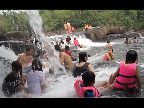 Tatai waterfall at Tatai Leu Natural Tourism, Koh Kong province