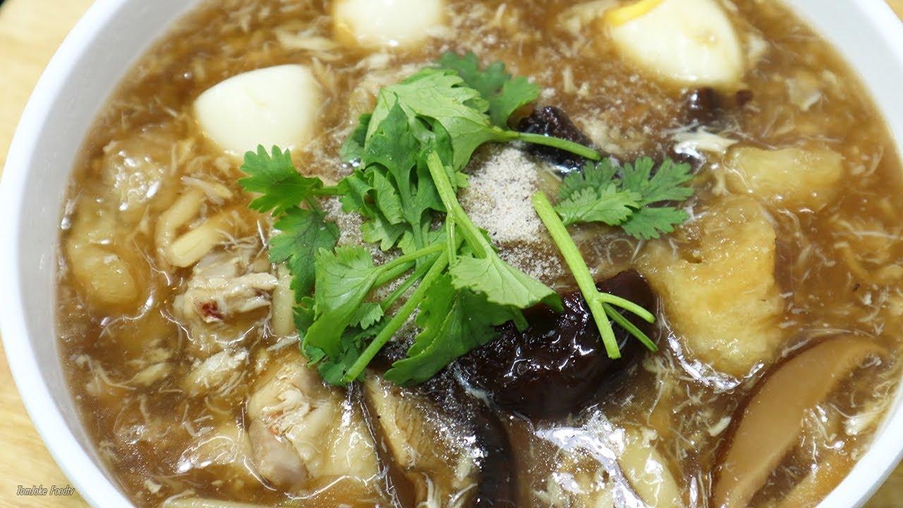 กระเพาะปลาน้ำแดง สูตรทำกินเองที่บ้านแบบง่ายๆ Fish Maw Soup | นายต้มโจ๊ก